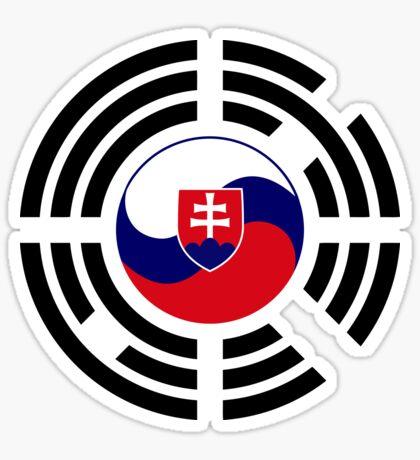 Korean Slovakian Multinational Patriot Flag Series Sticker