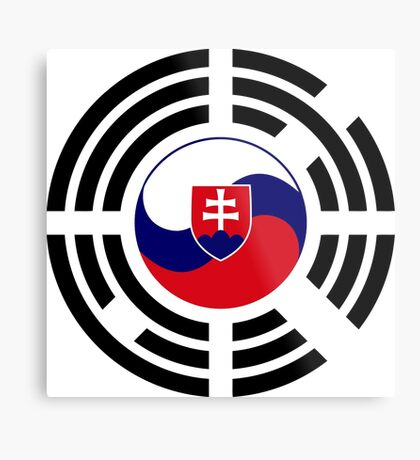 Korean Slovakian Multinational Patriot Flag Series Metal Print