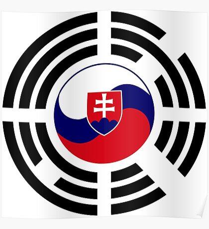 Korean Slovakian Multinational Patriot Flag Series Poster