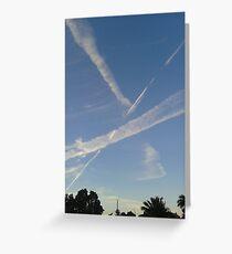 Sky Streaks Greeting Card