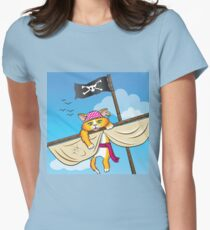 Cat's Adventure Women's Fitted T-Shirt