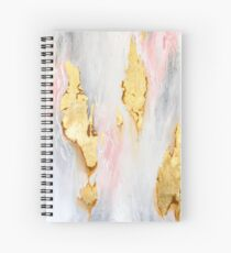 Gold Marble Spiral Notebook