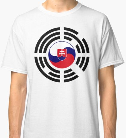 Korean Slovakian Multinational Patriot Flag Series Classic T-Shirt