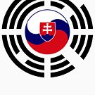 Korean Slovakian Multinational Patriot Flag Series by Carbon-Fibre Media