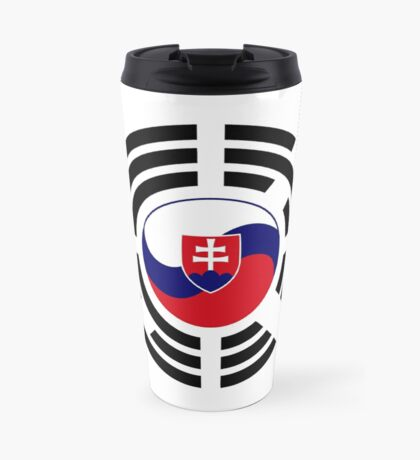 Korean Slovakian Multinational Patriot Flag Series Travel Mug