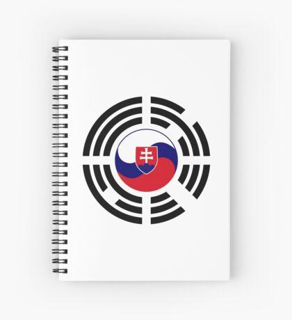 Korean Slovakian Multinational Patriot Flag Series Spiral Notebook