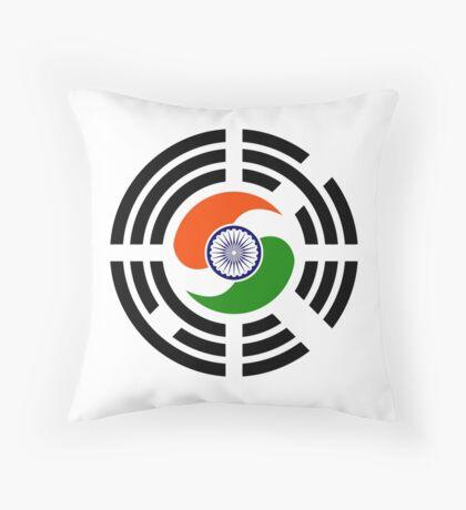 Korean Indian Multinational Patriot Flag Series Throw Pillow