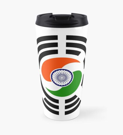 Korean Indian Multinational Patriot Flag Series Travel Mug