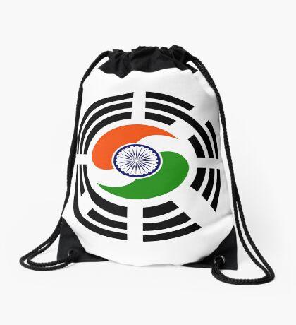 Korean Indian Multinational Patriot Flag Series Drawstring Bag