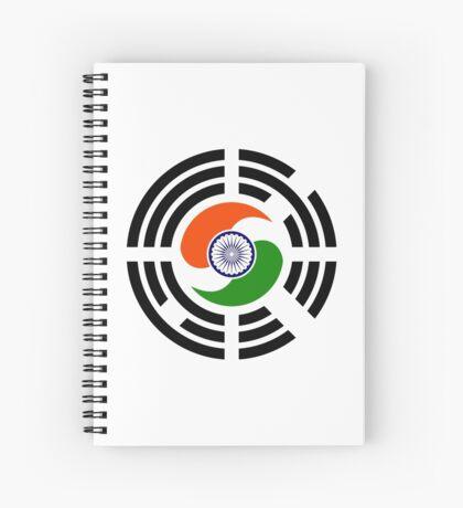 Korean Indian Multinational Patriot Flag Series Spiral Notebook