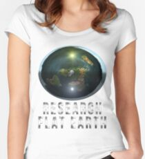 Research Flat Earth Women's Fitted Scoop T-Shirt