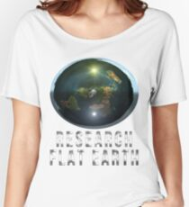 Research Flat Earth Women's Relaxed Fit T-Shirt