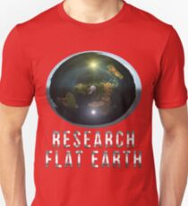Research Flat Earth Unisex T-Shirt