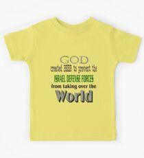 God, Beer & the IDF! Kids Tee