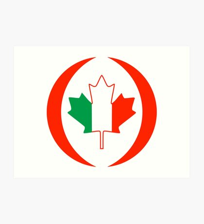 Irish Canadian Multinational Patriot Flag Series Art Print