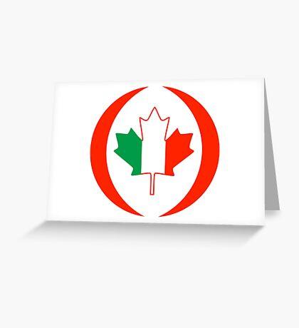 Irish Canadian Multinational Patriot Flag Series Greeting Card