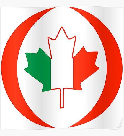 Irish Canadian Multinational Patriot Flag Series Poster