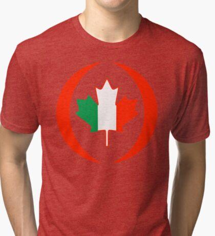 Irish Canadian Multinational Patriot Flag Series Tri-blend T-Shirt