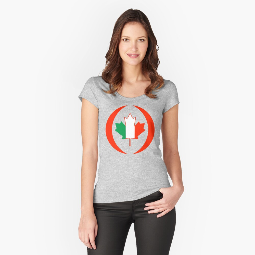 Irish Canadian Multinational Patriot Flag Series Fitted Scoop T-Shirt