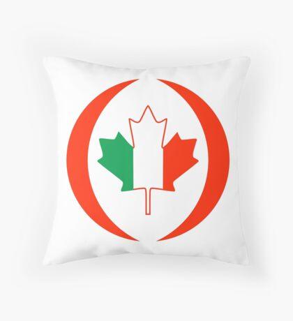 Irish Canadian Multinational Patriot Flag Series Throw Pillow