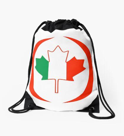 Irish Canadian Multinational Patriot Flag Series Drawstring Bag