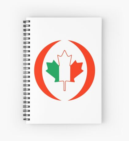 Irish Canadian Multinational Patriot Flag Series Spiral Notebook