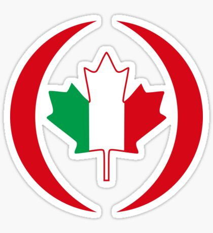 Italian Canadian Multinational Patriot Flag Series Sticker