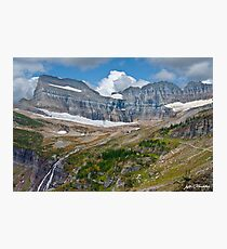 Grinnell Falls and Garden Wall Photographic Print