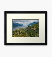 Crown Point, Vista House and Columbia River Framed Print