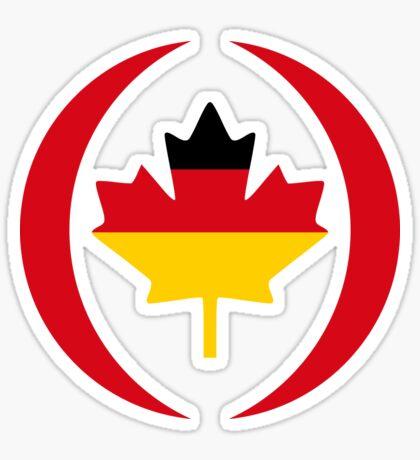 German Canadian Multinational Patriot Flag Series Sticker