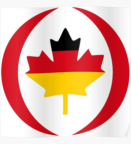 German Canadian Multinational Patriot Flag Series Poster