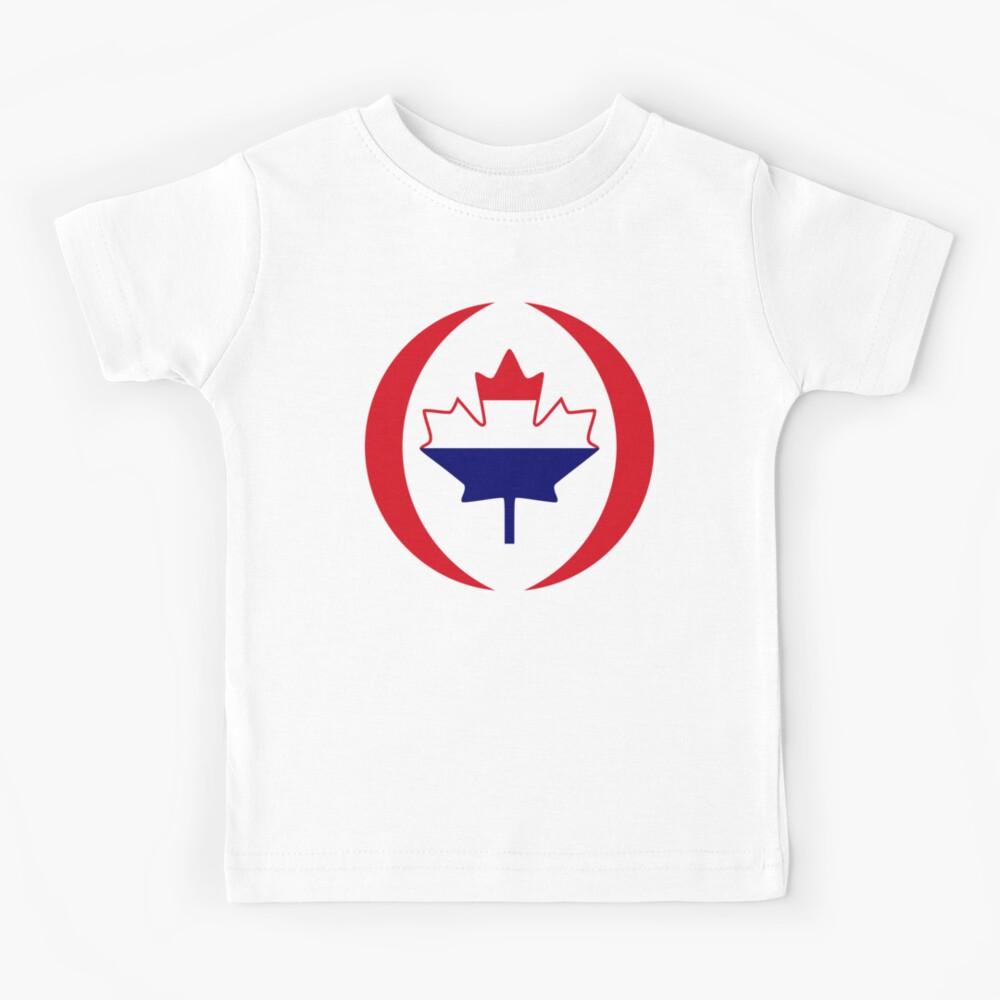 Dutch Canadian Multinational Patriot Flag Series Kids T-Shirt