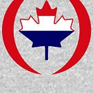 Dutch Canadian Multinational Patriot Flag Series by Carbon-Fibre Media