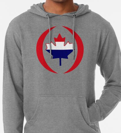 Dutch Canadian Multinational Patriot Flag Series Lightweight Hoodie