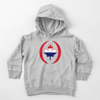 Dutch Canadian Multinational Patriot Flag Series Toddler Pullover Hoodie