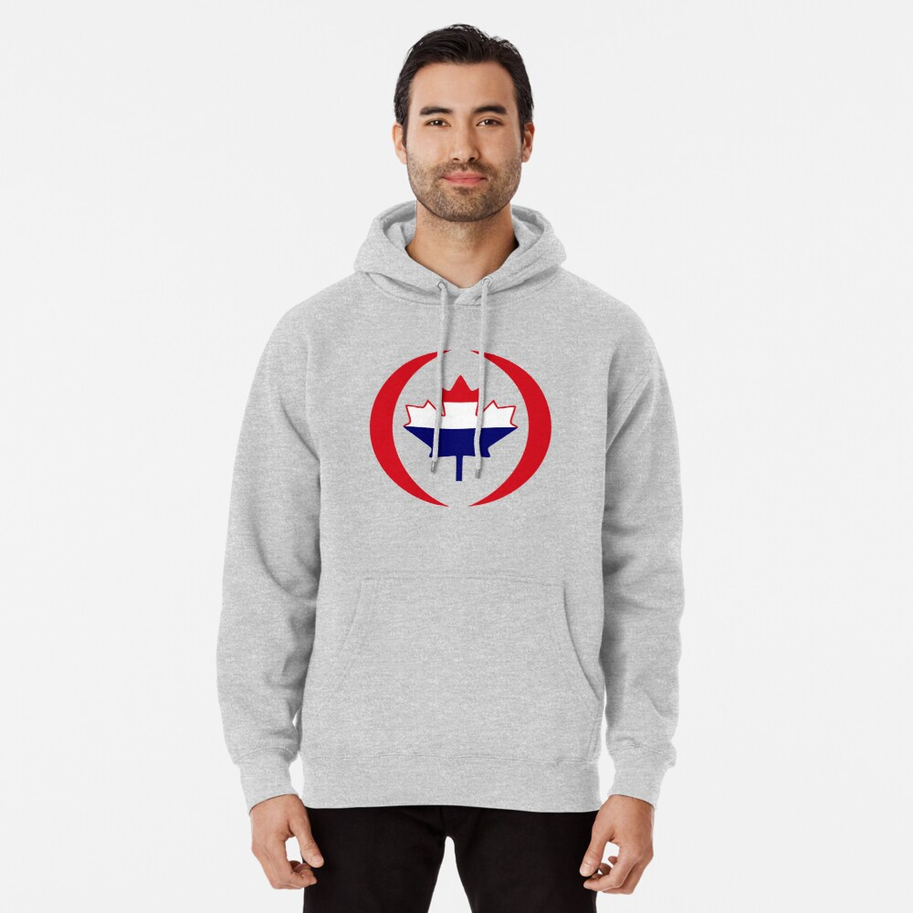 Dutch Canadian Multinational Patriot Flag Series Pullover Hoodie