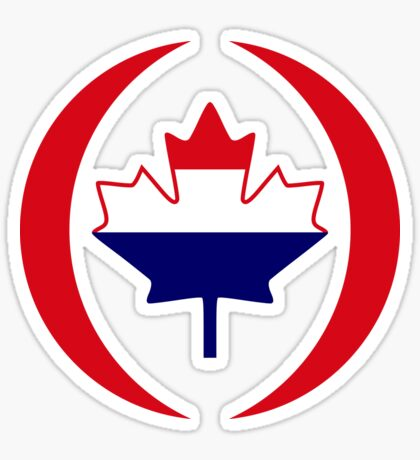 Dutch Canadian Multinational Patriot Flag Series Sticker