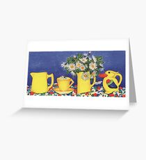 Daisies with Bird Jug Greeting Card