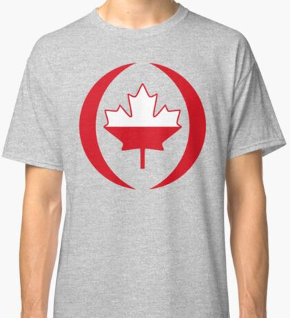 Polish Canadian Multinational Patriot Flag Series Classic T-Shirt