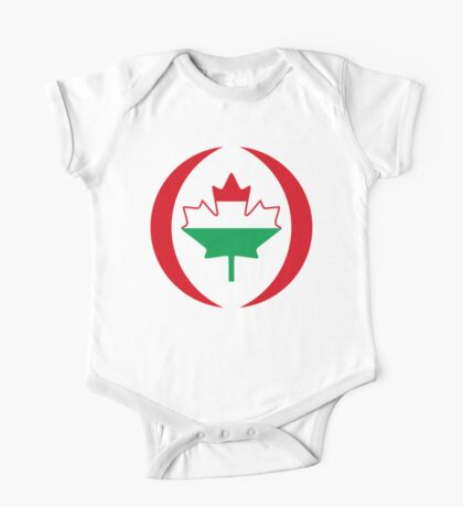 Hungarian Canadian Multinational Patriot Flag Series Kids Clothes
