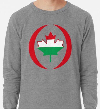 Hungarian Canadian Multinational Patriot Flag Series Lightweight Sweatshirt