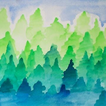 Gradient Pines by kellymichelle