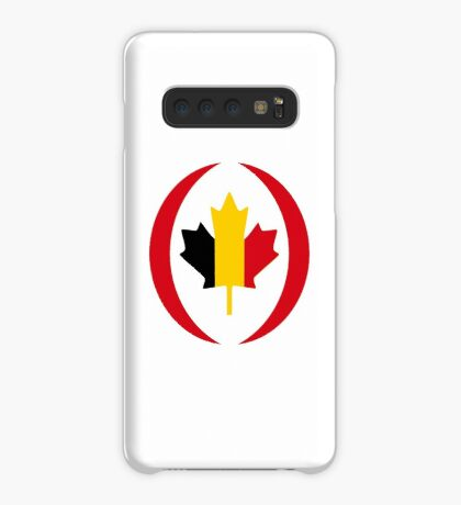 Belgian Canadian Multinational Patriot Flag Series Case/Skin for Samsung Galaxy