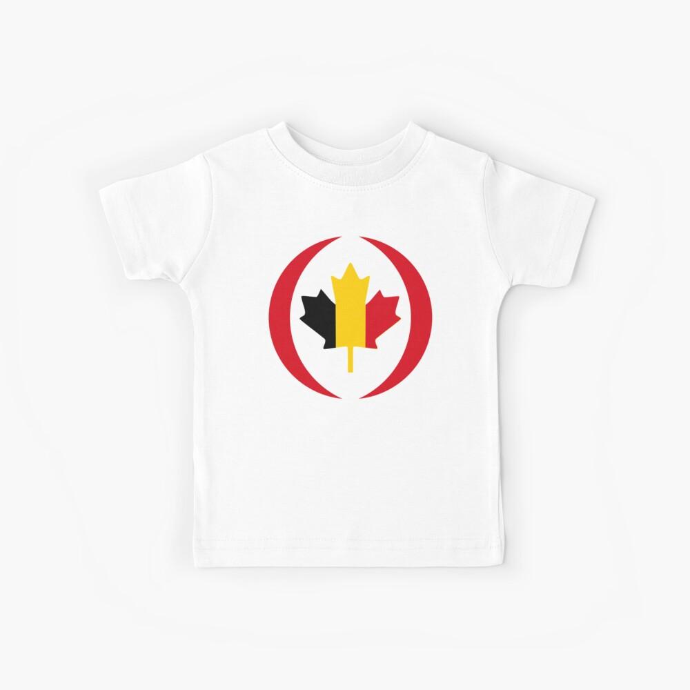 Belgian Canadian Multinational Patriot Flag Series Kids T-Shirt