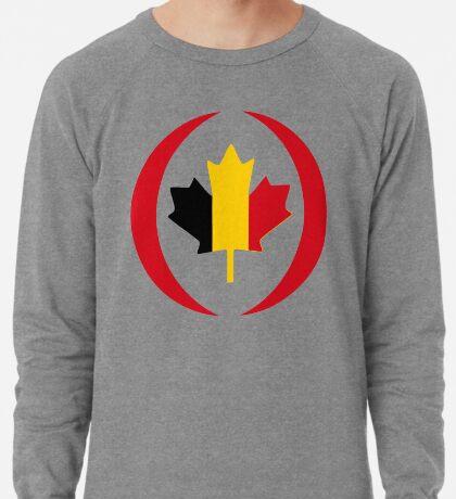 Belgian Canadian Multinational Patriot Flag Series Lightweight Sweatshirt
