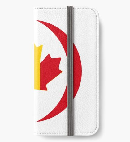 Belgian Canadian Multinational Patriot Flag Series iPhone Wallet
