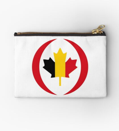 Belgian Canadian Multinational Patriot Flag Series Zipper Pouch