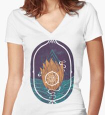 Pulsatilla Patens Women's Fitted V-Neck T-Shirt