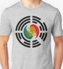 Korean Mexican Multinational Patriot Flag Series Slim Fit T-Shirt