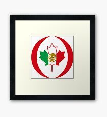 Mexican Canadian Multinational Patriot Flag Series Framed Print